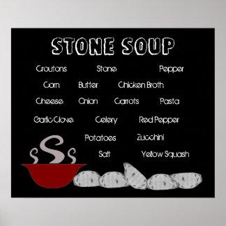 Poster de piedra de la sopa