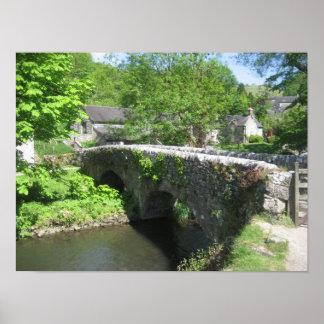 Poster de piedra del puente: Derbyshire (los