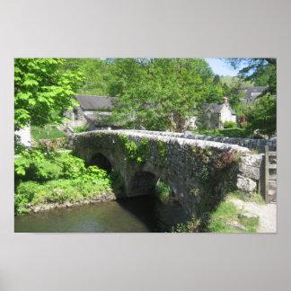 Poster de piedra del puente: Derbyshire (los 42cm