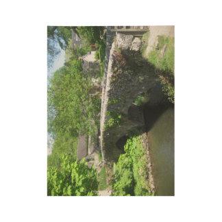 Poster de piedra del puente: Derbyshire (los Póster De Madera
