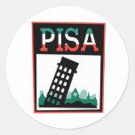 Poster de Pisa Pegatina Redonda