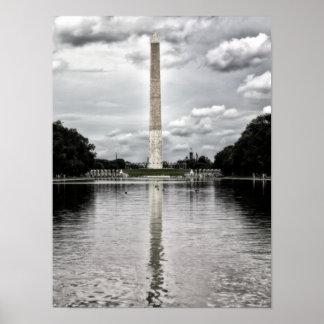 Poster de plata del monumento de Washington de las