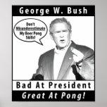 Poster de Pong de la cerveza de George W. Bush