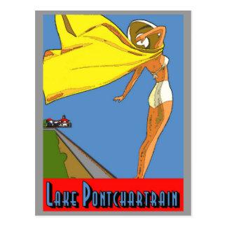 Poster de Pontchartrain del lago Postales