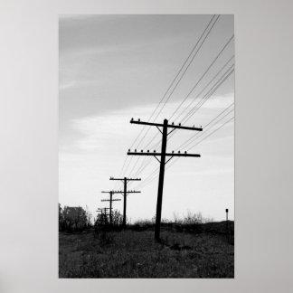"""""""Poster de postes de teléfono"""" por el mDarkPoet"""