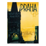 Poster de Praga del vintage (Praga) Postales
