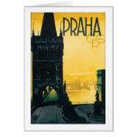 Poster de Praga del vintage (Praga) Tarjetas
