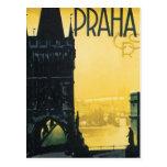 Poster de Praga del vintage Tarjeta Postal