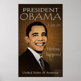 Poster de presidente Barack Obama - Grunge