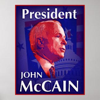 Poster de presidente John McCain