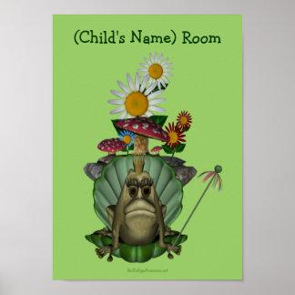 Poster de princesa Kids Room Personalized Wall de