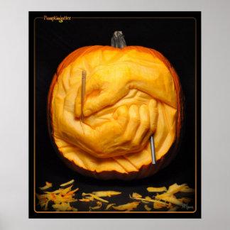 Poster de Pumpkingutter - talla de las manos
