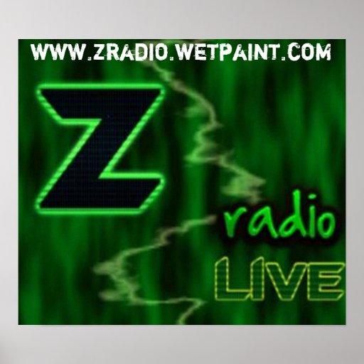 Poster de radio de Z