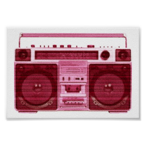 poster de radio retro