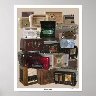 Poster de radio tablero viejo/antiguo