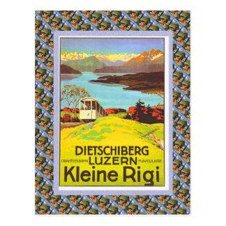Poster de Raulway del suizo del vintage Dietschib Tarjeta Postal