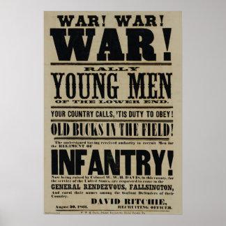 Poster de reclutamiento de la guerra civil