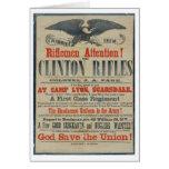 Poster de reclutamiento de la guerra civil del reg tarjeton