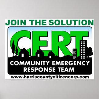 Poster de reclutamiento del CERT