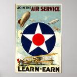 Poster de reclutamiento del cuerpo de aire del ejé