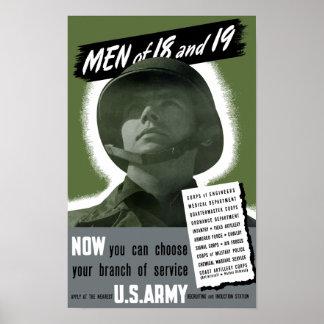 Poster de reclutamiento del ejército -- WWII