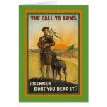 Poster de reclutamiento irlandés de WWI Felicitaciones