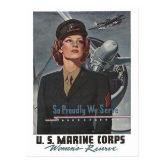 Poster de reclutamiento militar de WWII -- Mujeres Tarjetas Postales