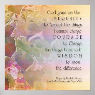 Poster de Redbud del rezo de la serenidad Póster