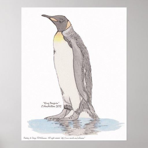 Poster de rey pingüino