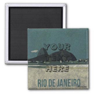 Poster de Río de Janeiro Imán Cuadrado
