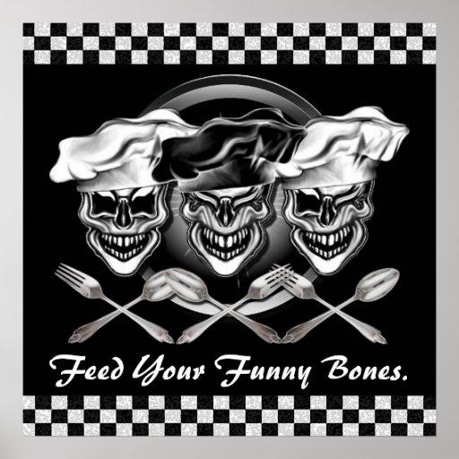 Poster de risa adaptable de los cráneos del