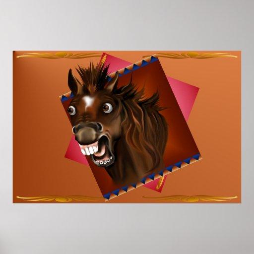 Poster de risa de las expresiones del caballo