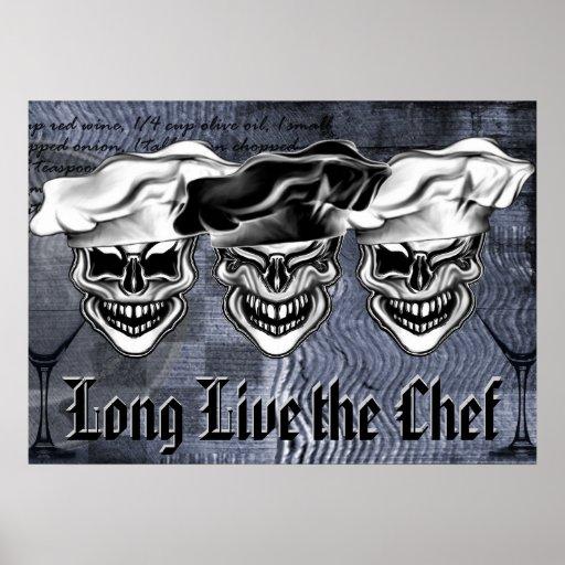 Poster de risa de los cráneos del cocinero: Vive d