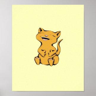 Poster de risa del gato de Wally
