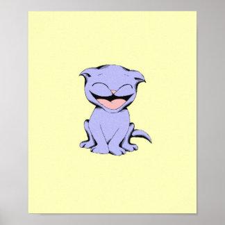 Poster de risa del gato del polo
