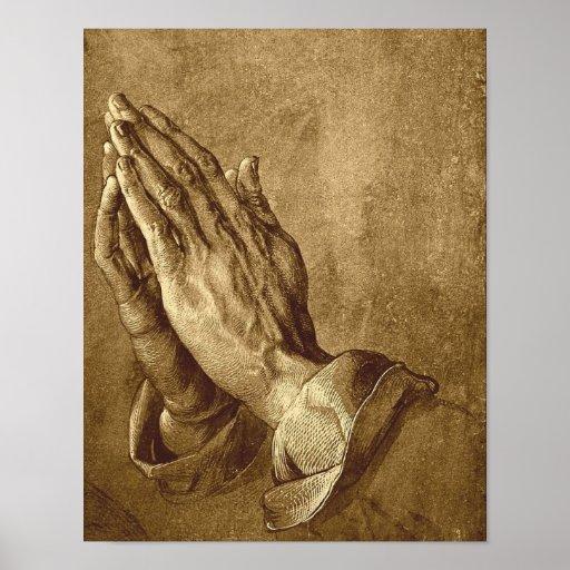 Poster de rogación de las manos