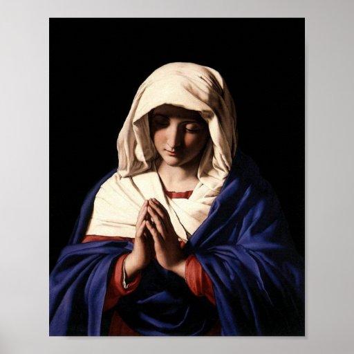 Poster de rogación del Virgen María
