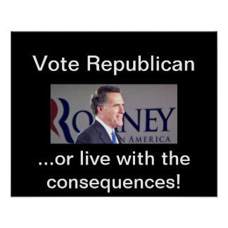 Poster de Romney del republicano del voto…