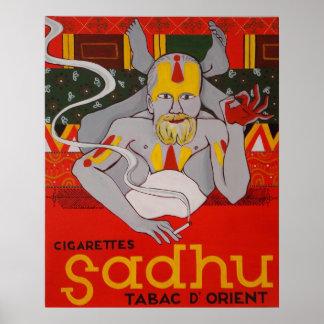 Poster de Sadhu Tabac D Orient de los cigarrillos