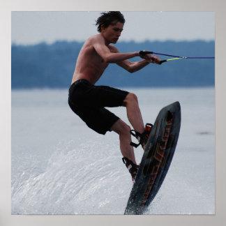 Poster de salto del Wakeboarder