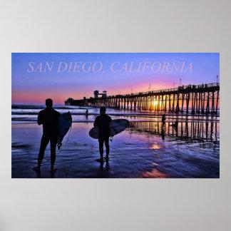 Poster de San Diego California