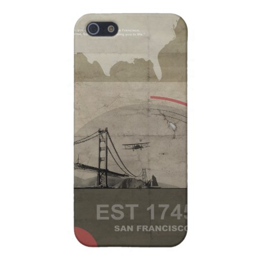 Poster de San Francisco iPhone 5 Carcasa