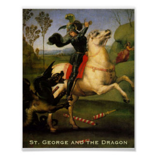 """Poster de """"San Jorge y del dragón"""" Póster"""