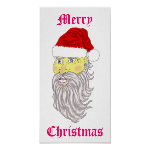 Poster de Santa de las Felices Navidad