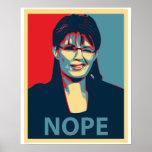 Poster de Sarah… Nope