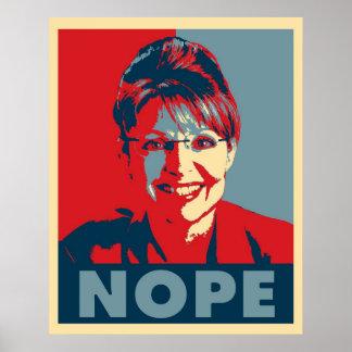 """Poster de Sarah Palin """"NOPE"""""""