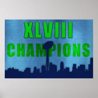 Poster de Seahawks Superbowl XLVIII