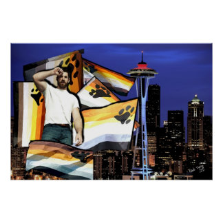 Poster de Seattle del orgullo del oso