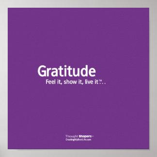 Poster de Shapers™ del pensamiento de la gratitud