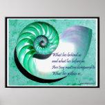 Poster de Shell del nautilus de A01b - cita inspir